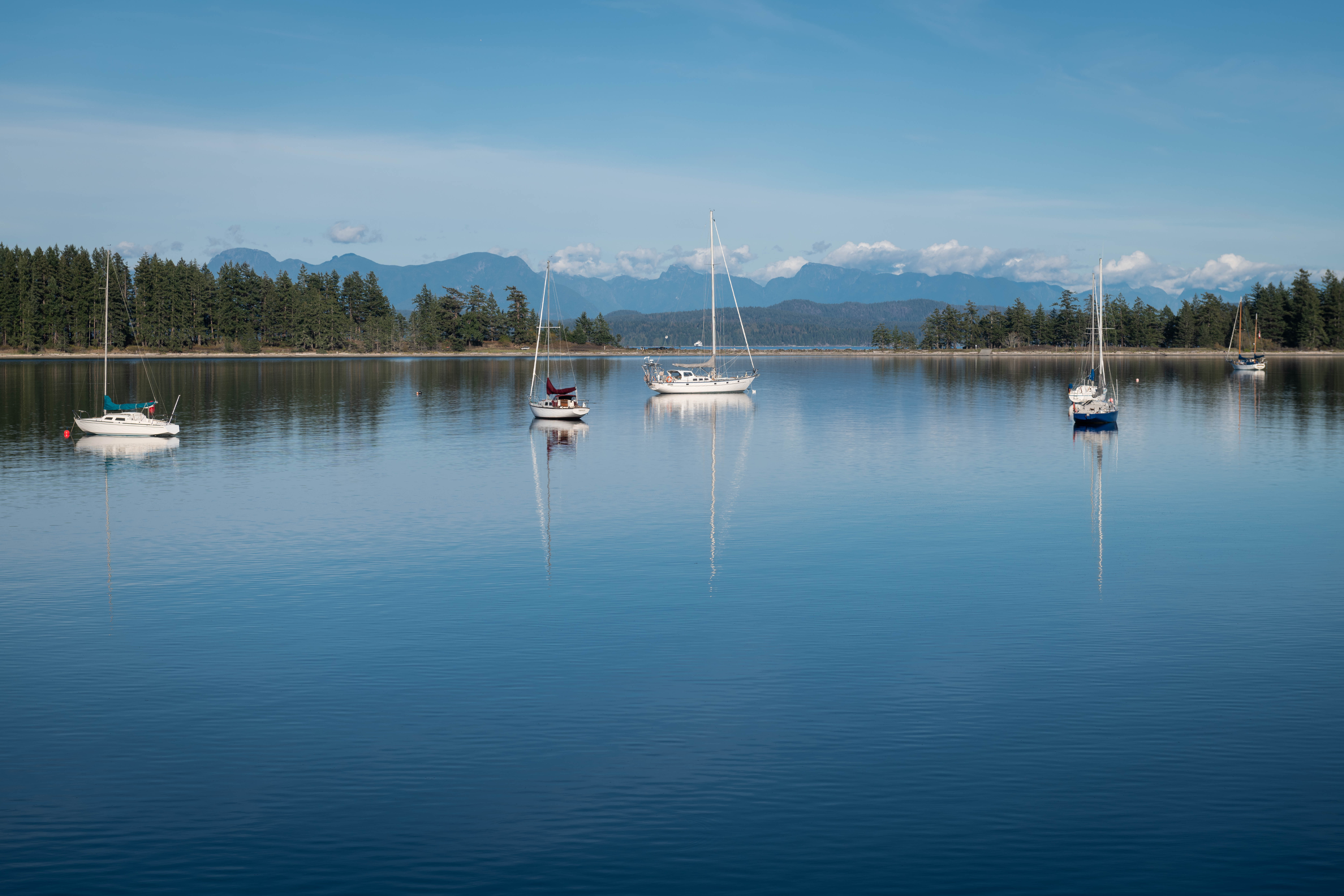 Drew Harbour at Rebecca Spit on Quadra Island, BC