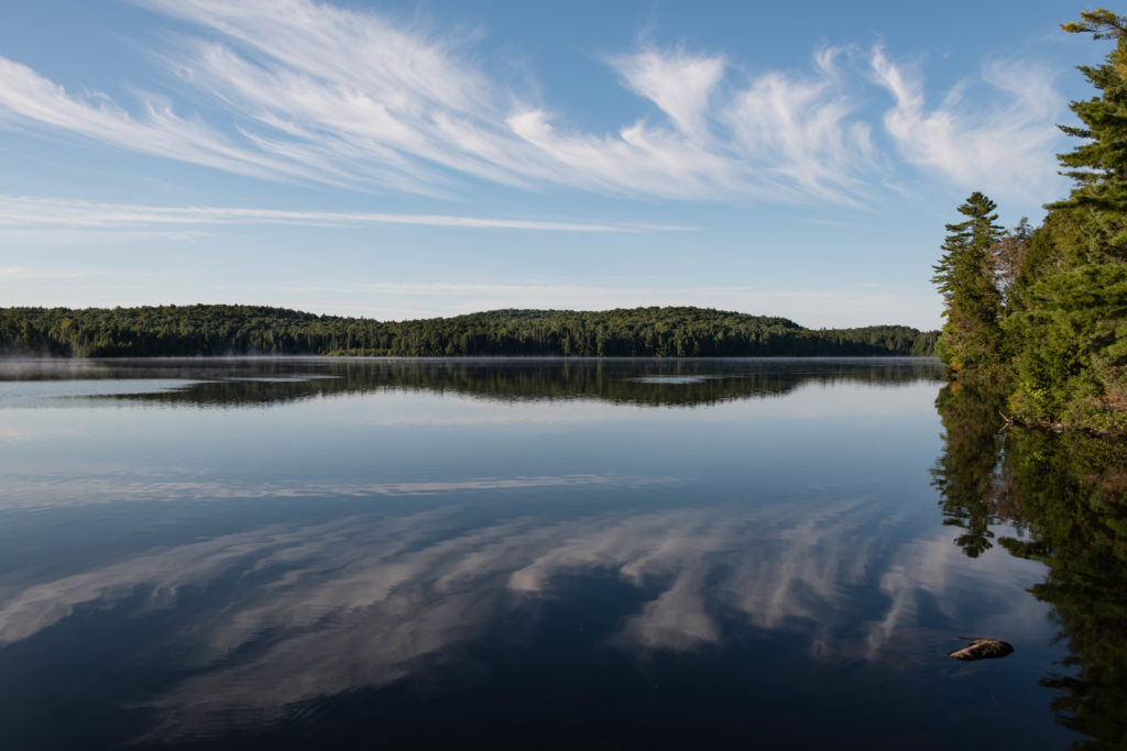 Sunrise on Three Mile Lake
