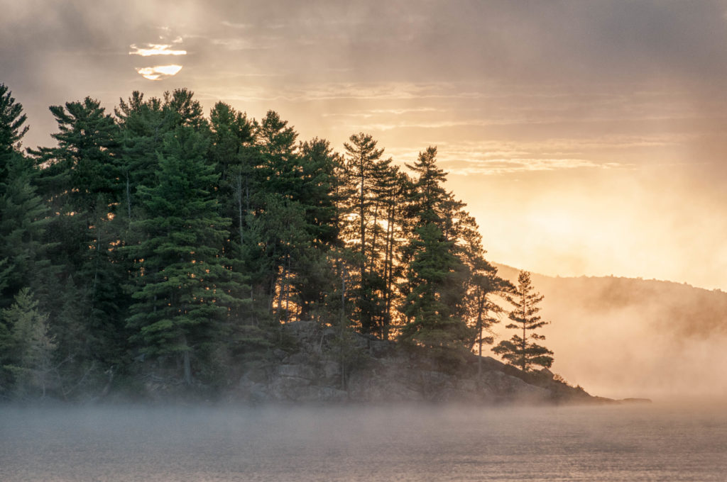 Morning Mist on Lake of Two Rivers
