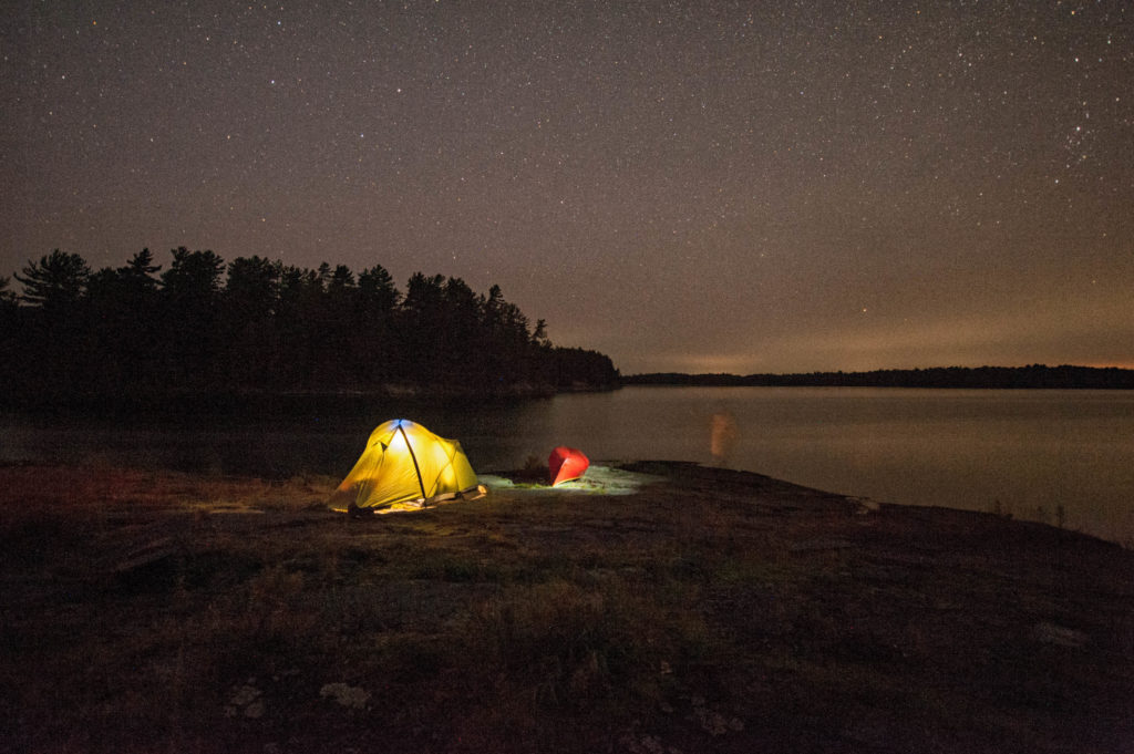Ghost at Diamond Lake campsite