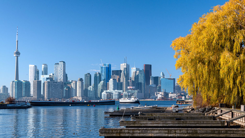 View of the Toronto skyline from the Toronto Islands