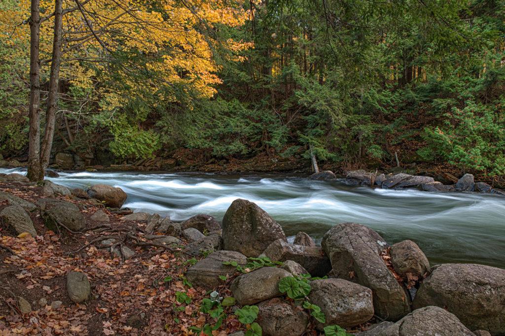 Autumn on the Gull River, Minden Ontario